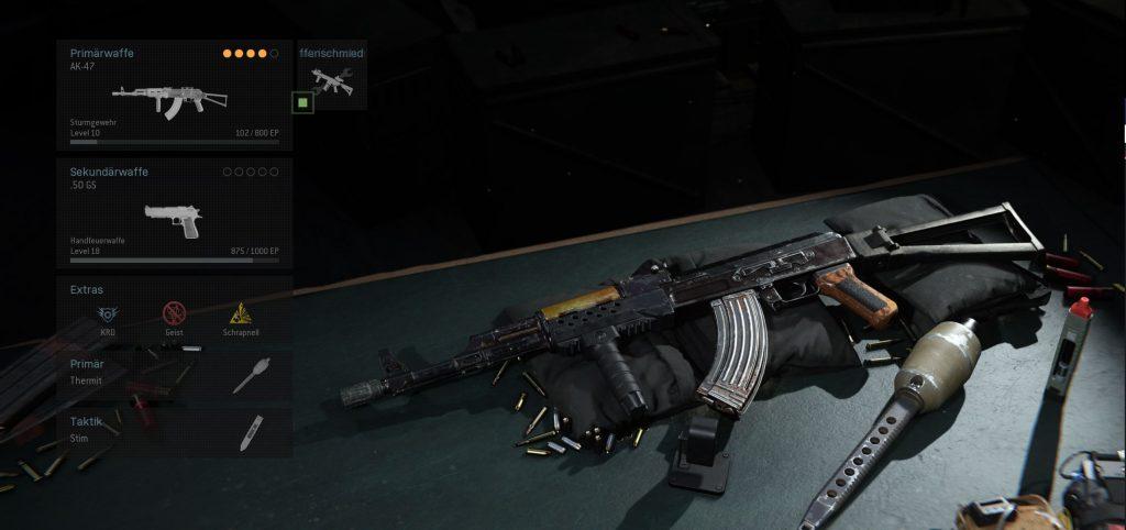 Call fo Duty Modern Warfare AK-47 Einsteiger Build