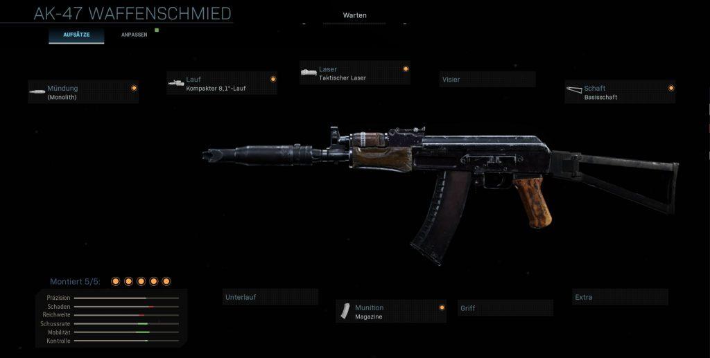 Call fo Duty Modern Warfare AK74u Setup