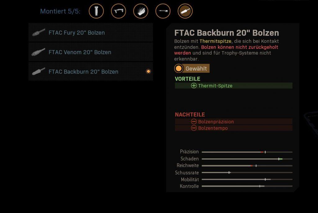 Call fo Duty Modern Warfare Armbrust Thermitbolzen