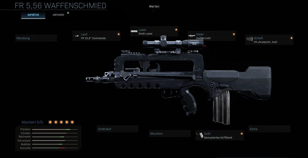 Call fo Duty Modern Warfare Famas FLickwerk Variante