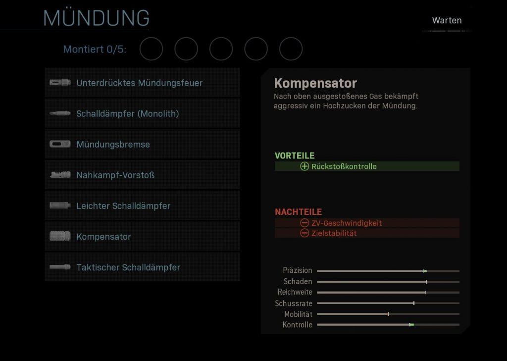 Call fo Duty Modern Warfare Kompensator 2