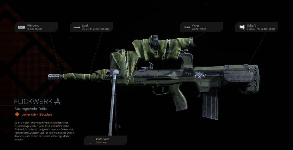 Call fo Duty Modern Warfare famals flickwerk bauplan