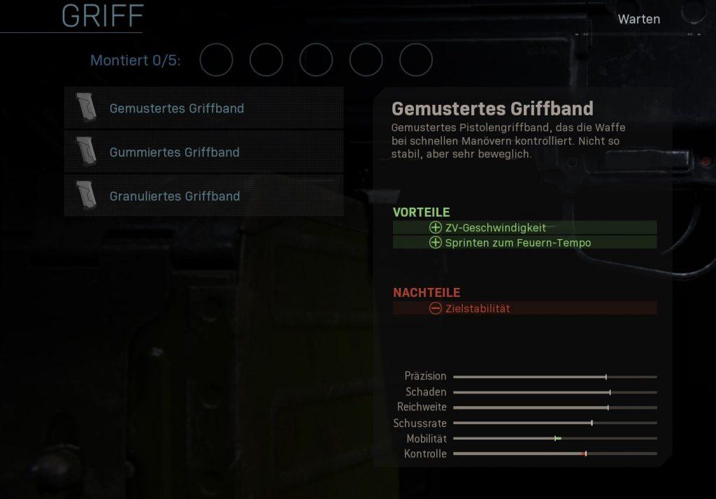 Call fo Duty Modern Warfare gemustertes griffband