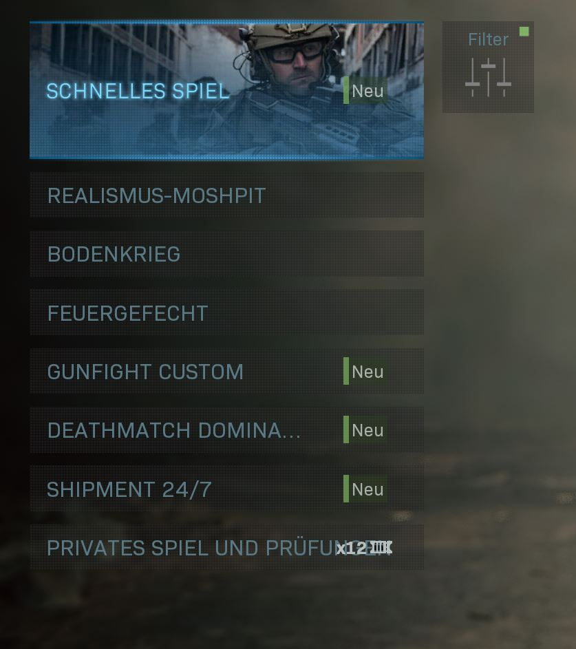 Call fo Duty Modern Warfare neue playlist 28 Januar