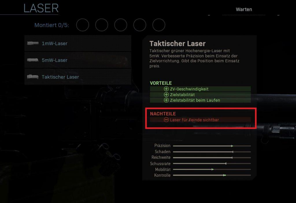 Call fo Duty Modern Warfare tac laser
