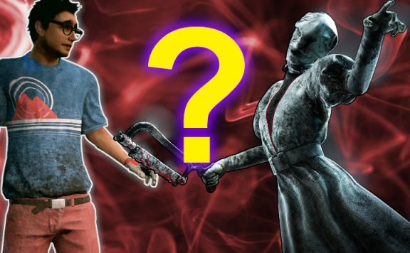 Dead by Daylight Dwight nurse question mark title 1140x445