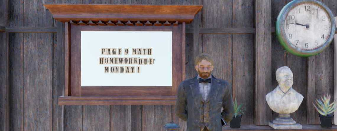Fieser Lehrer quält Spieler in Fallout 76 mit Mathematik