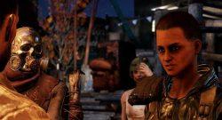 Fallout 76 Wastelanders Screenshot Raider Lager Titel