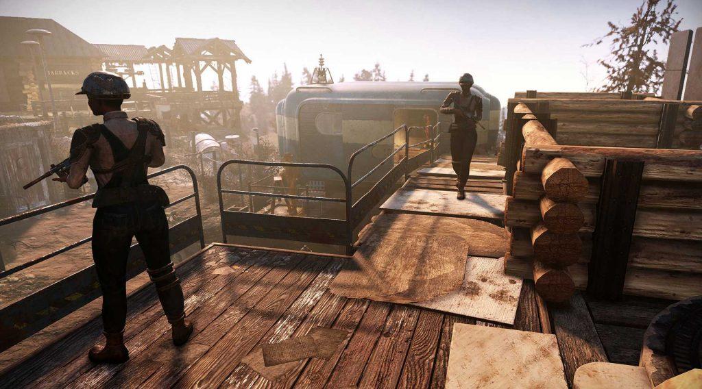 Fallout 76 Wastelanders Screenshot Siedler Lager