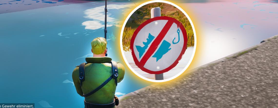 """Fortnite: Findet hier die 3 """"Angeln verboten""""-Schilder auf der Map"""