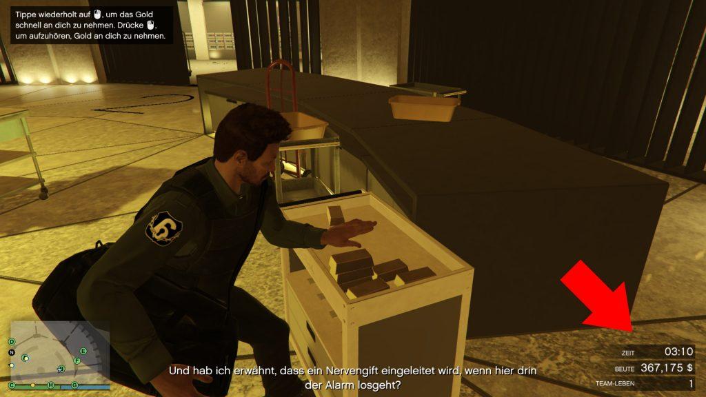 GTA Online Beute Gold Tresor Zeit Casino Heist