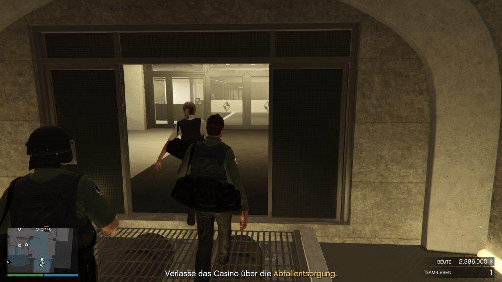 GTA Online Gruppe Casino Heist Fluchtweg
