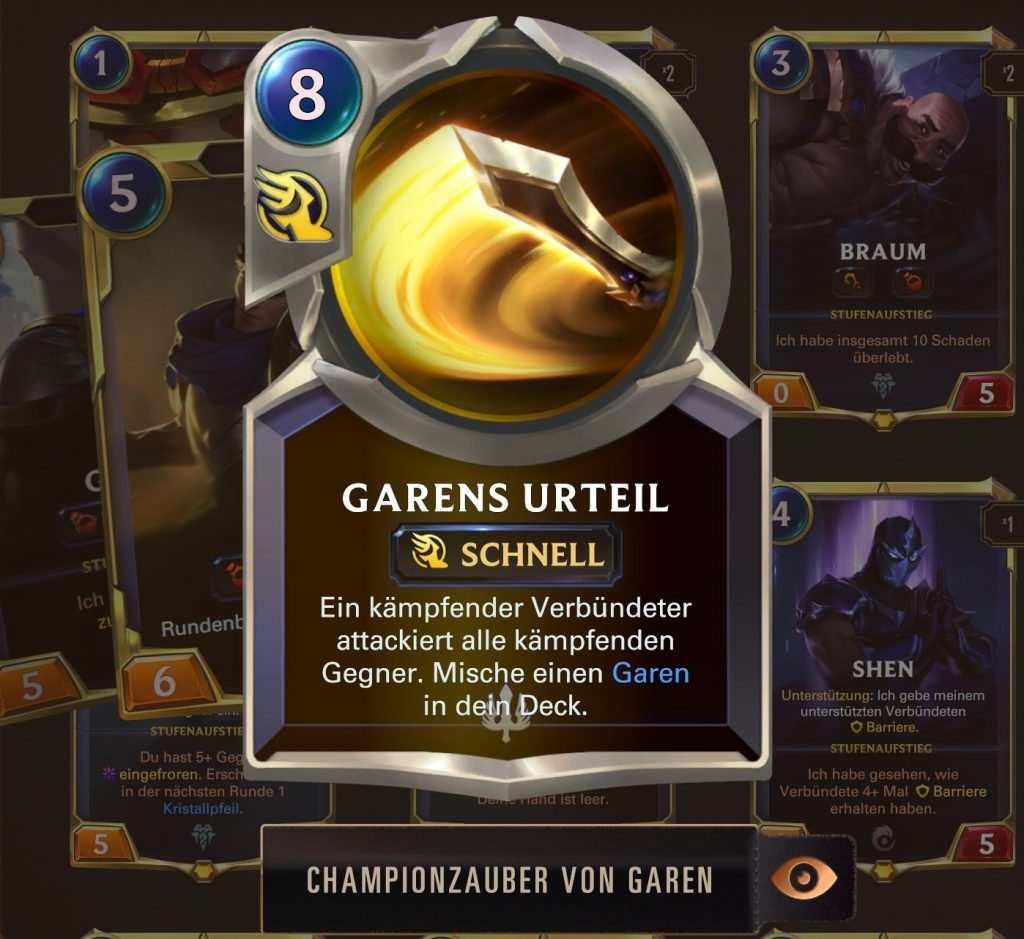 Legends of Runeterra Garen Championzauber
