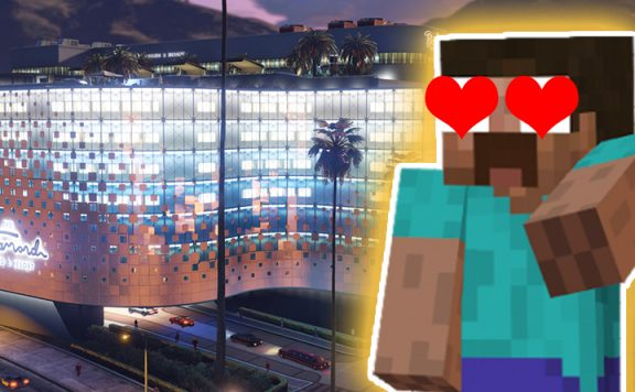 GTA Online Minecraft Casino Titel