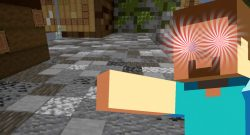 Minecraft crazy Steve title 1140x445