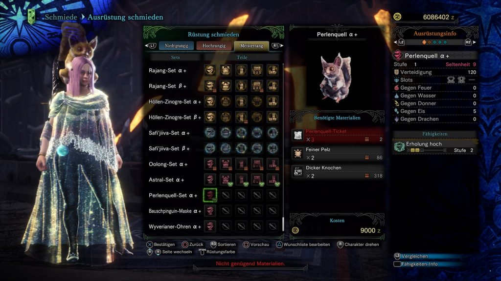 Monster Hunter World: Iceborne Perlenquell-Set