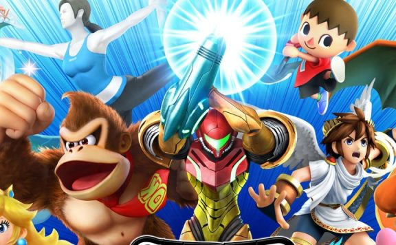Smash Bros Wii title 1140x445