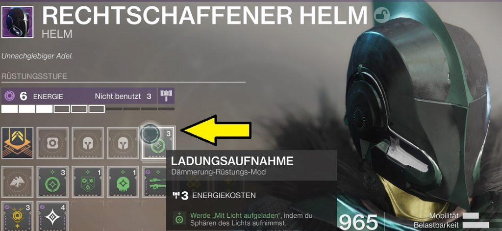 Titan Helm Mods Destiny 2
