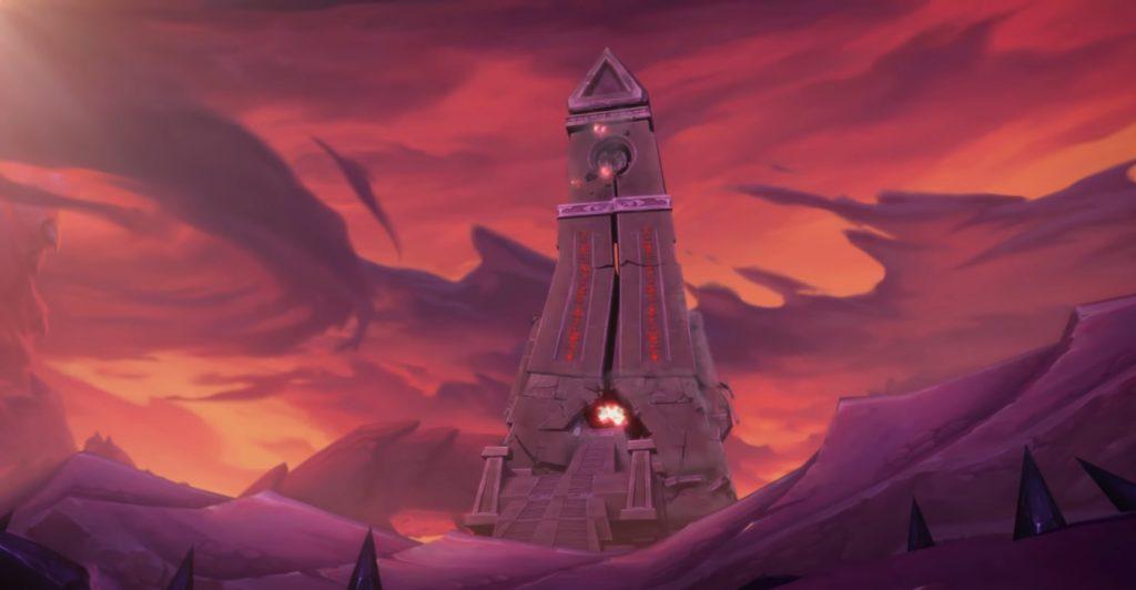 WoW Nzoth Cinematic Obelisk crumble