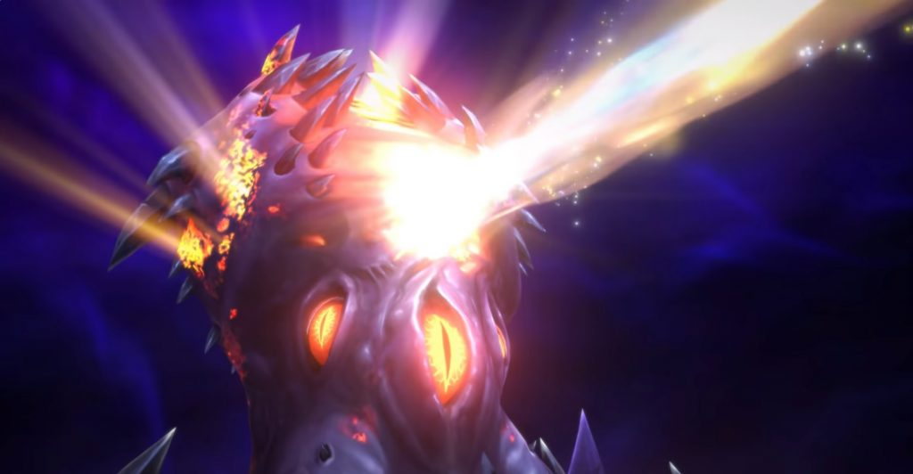 WoW Nzoth Cinematic laser