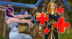 WoW Red Cross First Aid night elf healing mage title 1140x445