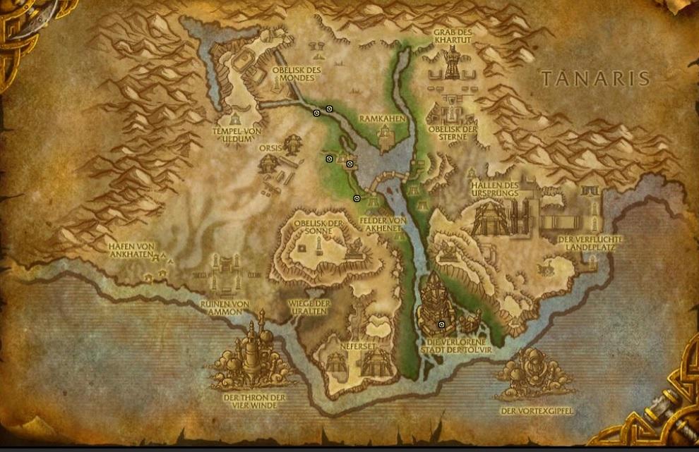 WoW Uldum Map Secret Idol Locations