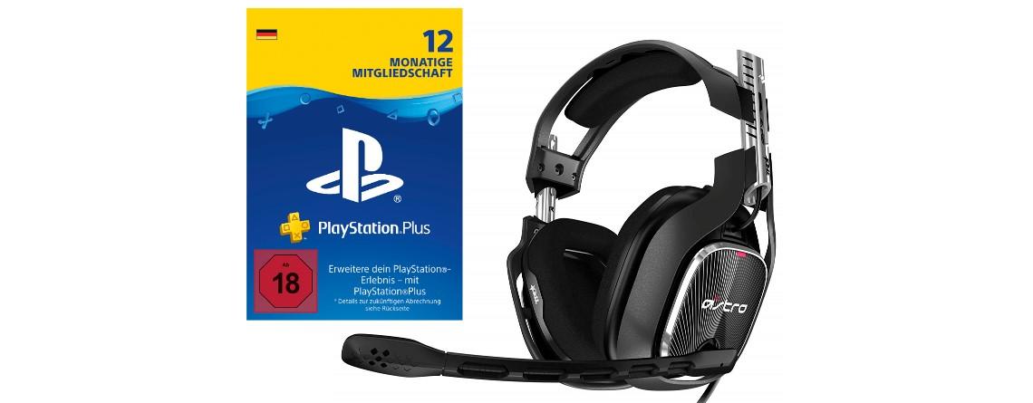Ein Jahr PS Plus und Gaming-Headsets von Astro vergünstigt bei Amazon