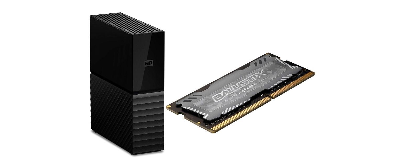 Externe Festplatte mit 8 TByte und Laptop-RAM bei Amazon vergünstigt