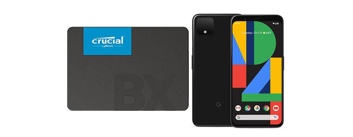 Amazon Angebote: 2 TB Crucial SSD und Google Pixel 4 günstiger