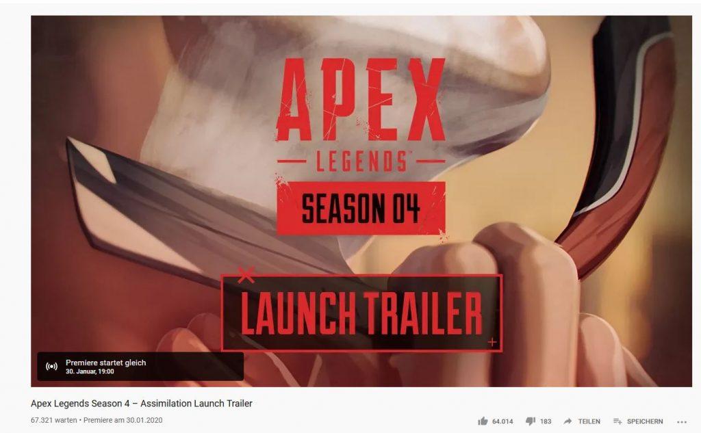 apex legends Season 4 Stream vor Launch