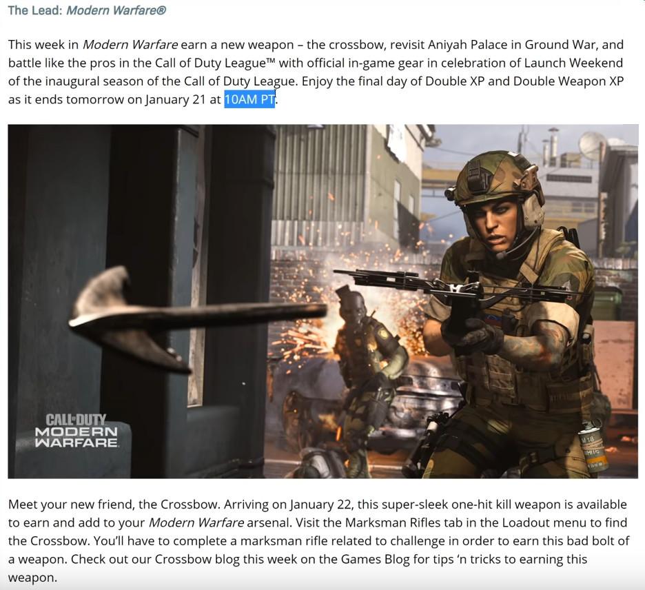 cod modern warfare update blogpost gelöscht