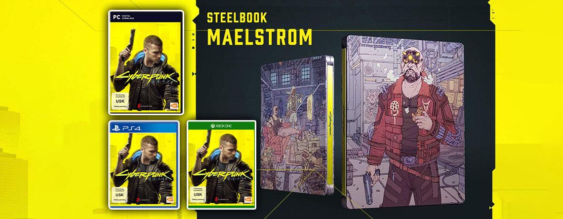 Cyberpunk 2077 vorbestellen und gratis Steelbook Maelstrom sichern