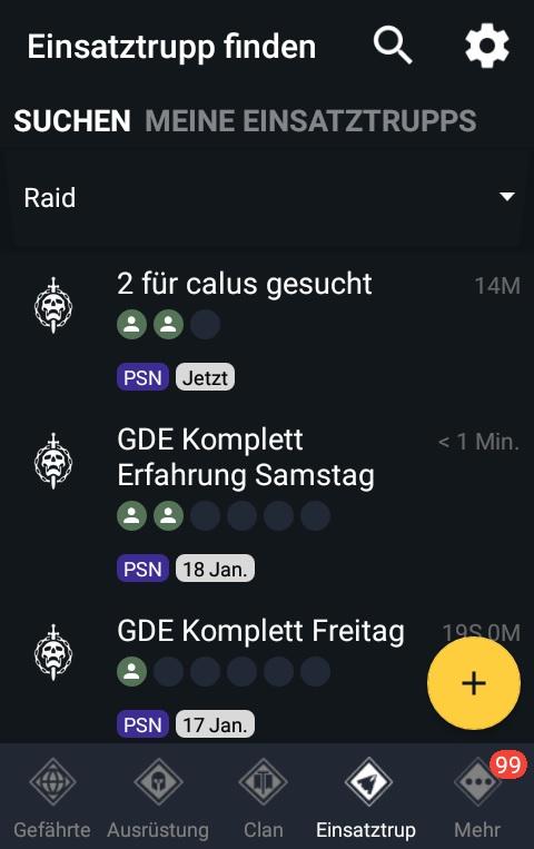 Destiny Gefährte App