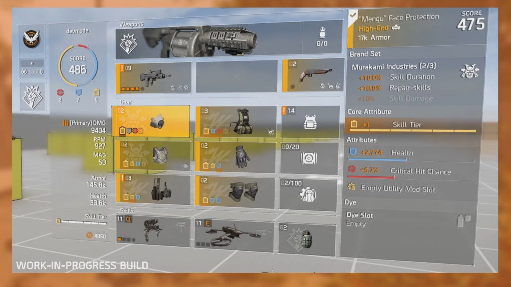 division 2 full tier build