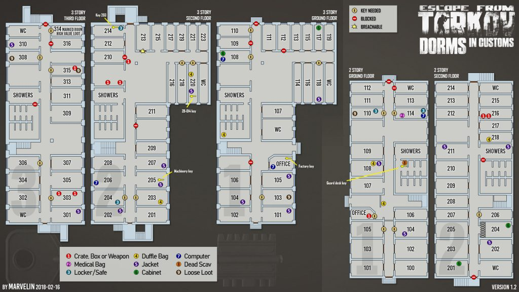 escape from tartkov maps zollgelände dorms