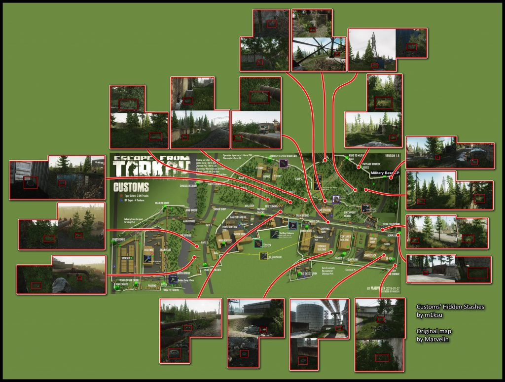 escape from tarkov maps zollgelände stash