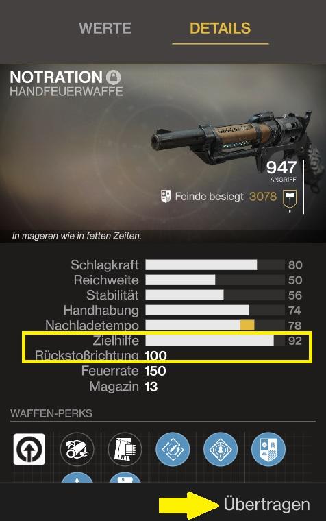 Ishtar Commander Waffe Details Destiny