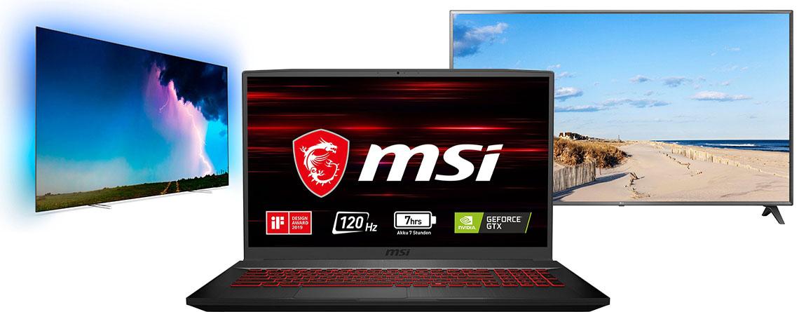 OTTO Angebote: MSI Gaming-Notebook & 4K TVs deutlich günstiger
