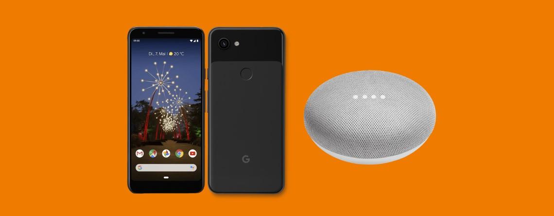 Pixel 3a mit Tarif plus Google Home Mini günstig im Angebot bei Saturn