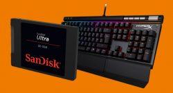 Gaming-Tastatur von Kingston und SSD von SanDisk bei Saturn reduziert