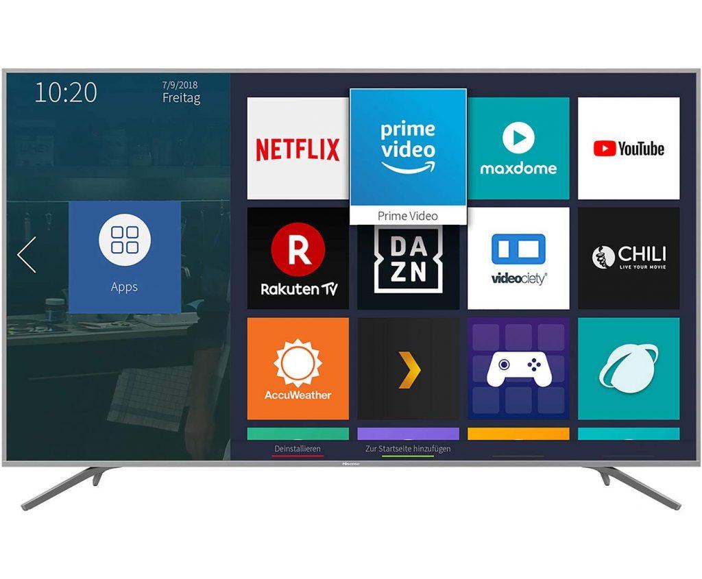 Hisense H75BE7410 UHD-TV Menüführung