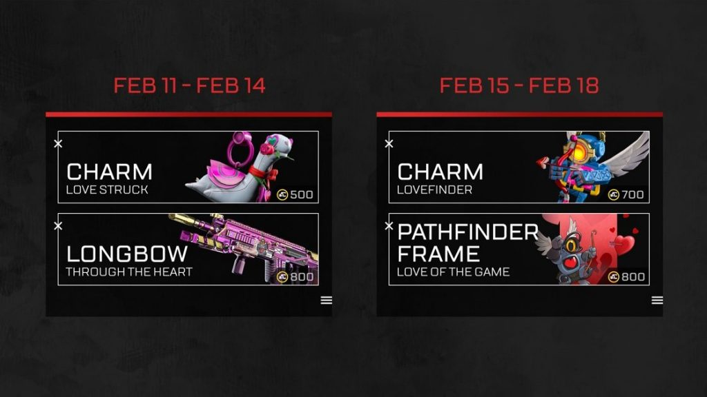 Apex Legends Shop Items Valentinstag