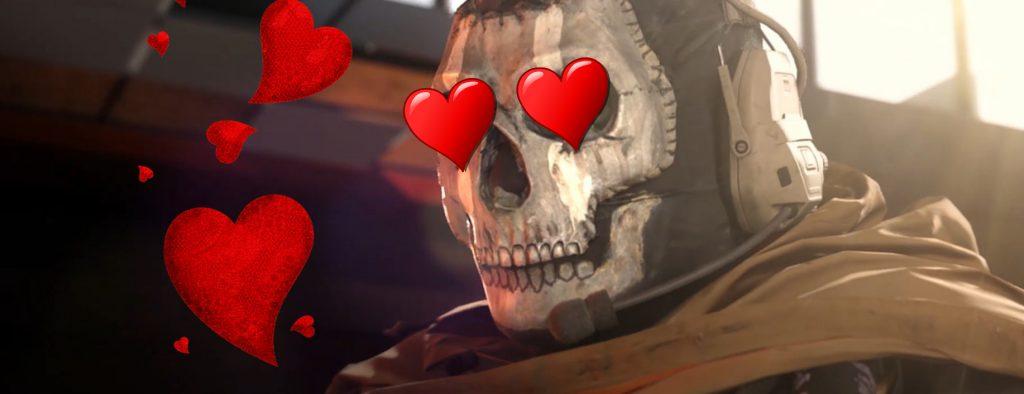 Call of Duty Modern Warfare Ghost Typ Liebe Valentin