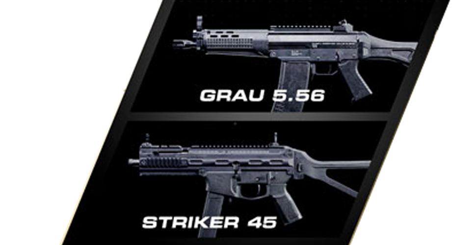 Call of duty modern warfare Grau 5.56 Striker 45 neue Waffen Season 2