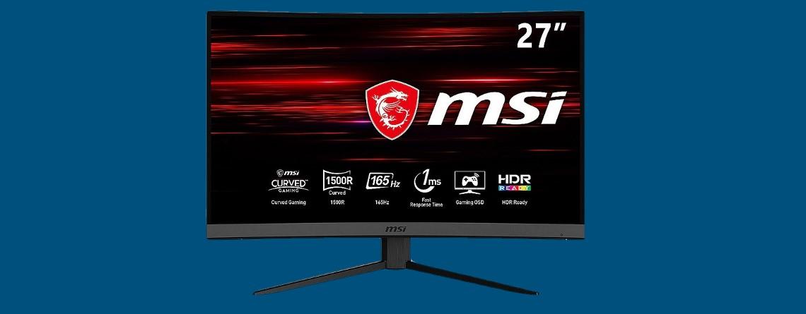 Curved Gaming-Monitor von MSI mit 165 Hz zum Bestpreis bei Cyberport