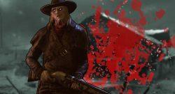 Dead by Daylight Deathslinger blood title 1140x445