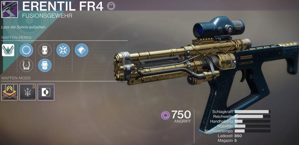 Erentil Fusion Gewehr Destiny 2