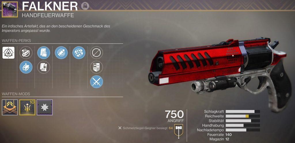 Falkner Austringer Handfeuerwaffe Destiny