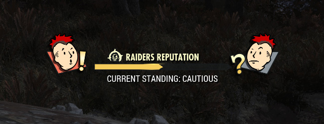 Fallout 76 Wastelanders Ruf Balken