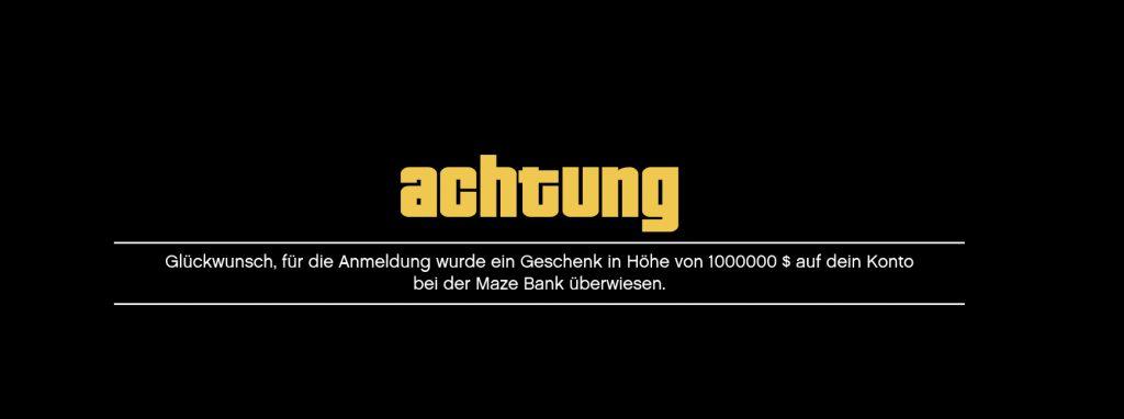 GTA Online 1 Million Geschenk